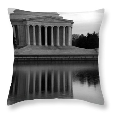 Throw Pillow featuring the photograph The Jefferson Memorial by Cora Wandel