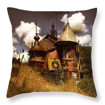 The Junk Castle Throw Pillow