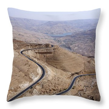 The Kings Highway At Wadi Mujib Jordan Throw Pillow by Robert Preston