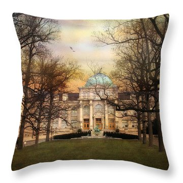 The Library Throw Pillow by Jessica Jenney