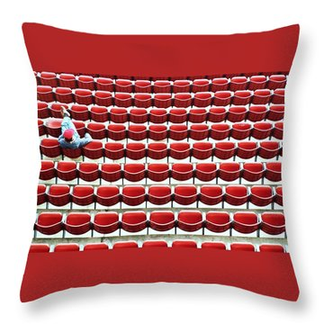 The Lone Fan Throw Pillow