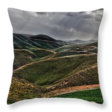 The Lord Is My Shepherd Judean Hills Israel Throw Pillow