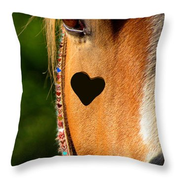 The Love Of A Horse Throw Pillow by France Laliberte