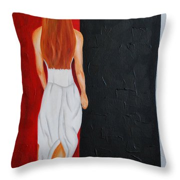 The Mystery Woman Throw Pillow