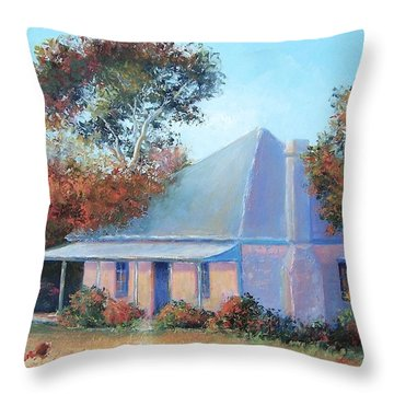 The Old Farm House Throw Pillow