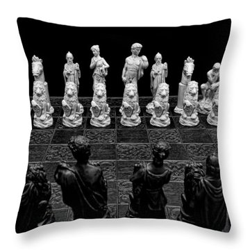 The Opponents View Throw Pillow by Doug Long