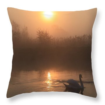 The Peace Of Dawn Throw Pillow by Linsey Williams