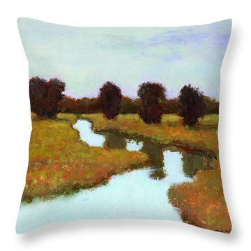 The River Takes You Home Throw Pillow