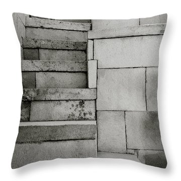 The Stairway Throw Pillow by Shaun Higson