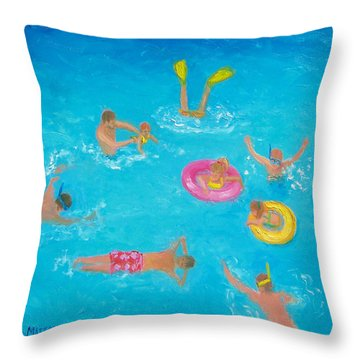 The Swimmers Throw Pillow