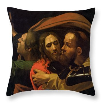 The Taking Of Christ Throw Pillow