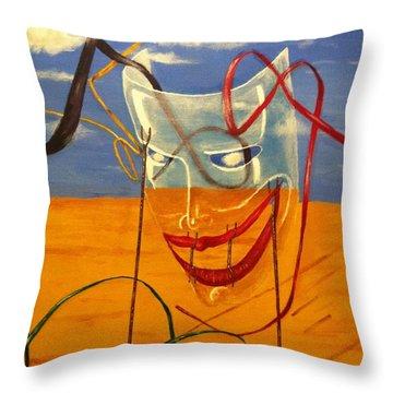 The Transparent Mask Throw Pillow by Safa Al-Rubaye