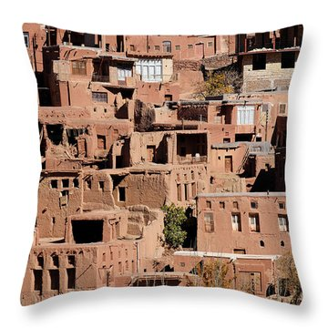 The Village Of Abyaneh In Iran Throw Pillow by Robert Preston