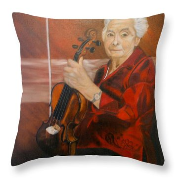 The Violin Throw Pillow