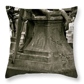 The Weeping Angel Throw Pillow