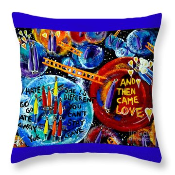 Throw Pillow featuring the painting Then Came Love by Jackie Carpenter