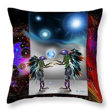 Throw Pillow featuring the digital art There Are No Aliens by Hartmut Jager