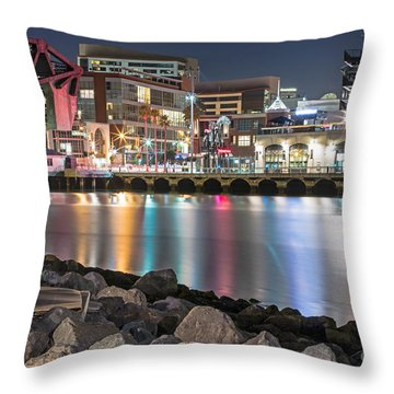 Third Street Bridge Throw Pillow