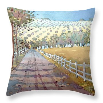 This Way To The Vineyard Throw Pillow