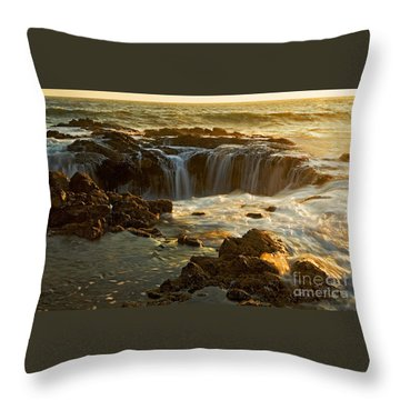 Thor's Well Throw Pillow by Nick  Boren
