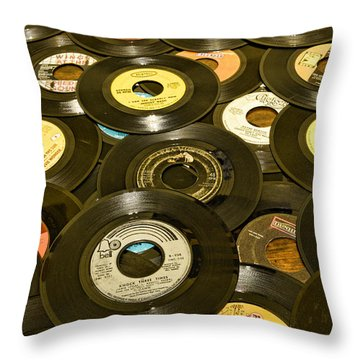 Those Old 45s Throw Pillow