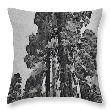 Three Giants Of The Forest Abstract Throw Pillow