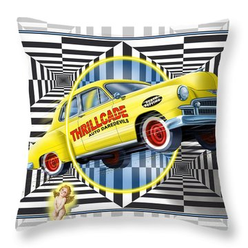 Thrillcade Throw Pillow