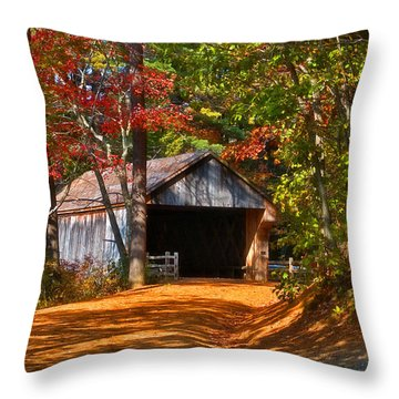 Through The Woods Throw Pillow by Joann Vitali