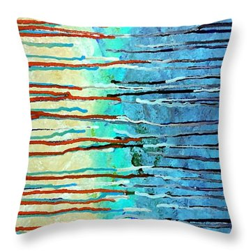 Thru The Storm 7 Throw Pillow by Lady Ex