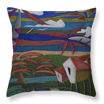 Throw Pillow featuring the painting Tiempos Y Remembranzas by Oscar Ortiz