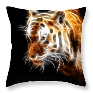 Tiger  Throw Pillow by Mark Ashkenazi