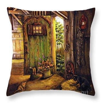 Timeless Throw Pillow by Linda Simon