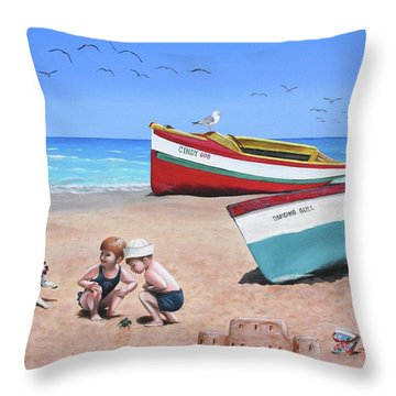 To The Rescue Throw Pillow by Wilfrido Limvalencia