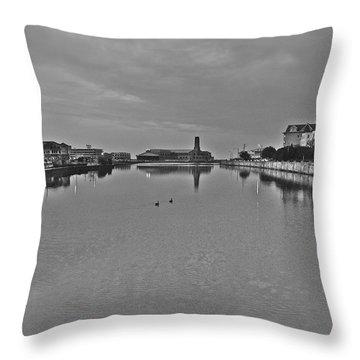 2 Towns Throw Pillow