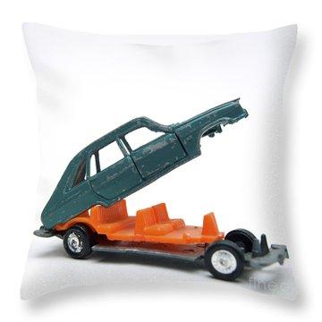 Toy Car Throw Pillow