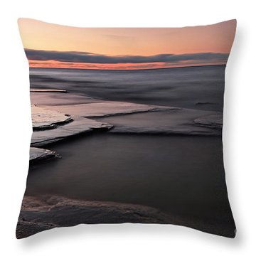 Tranquil Beach Throw Pillow by Charline Xia