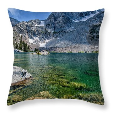 Treasure Lakes Throw Pillow