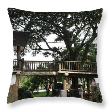 Throw Pillow featuring the photograph Tree House by Lorna Maza