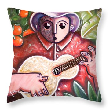 Trovando En Las Marias Throw Pillow