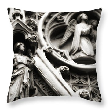 Throw Pillow featuring the photograph Truro Cathedral by Rachel Mirror