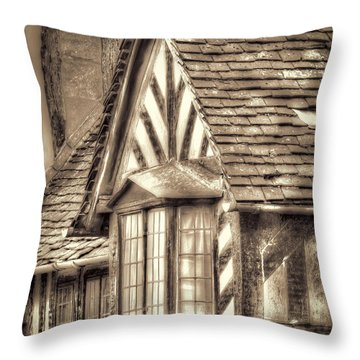 Throw Pillow featuring the photograph Tudor Style Buildings by Susan Leonard