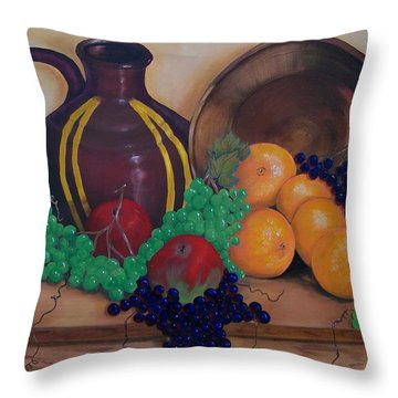 Throw Pillow featuring the painting Tuscany Treats by Sharon Duguay