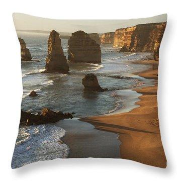 Twelve Apostles Australia Throw Pillow by Bob Christopher