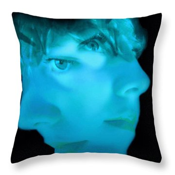 Two Faced Throw Pillow by Barbara D Richards
