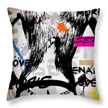 Typography Male  Throw Pillow by Mark Ashkenazi