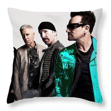 U2 Throw Pillow