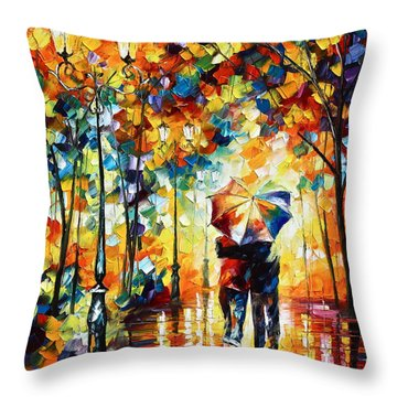 Under One Umbrella Throw Pillow