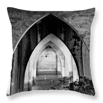 Under The Bridge Throw Pillow by Katie Wing Vigil