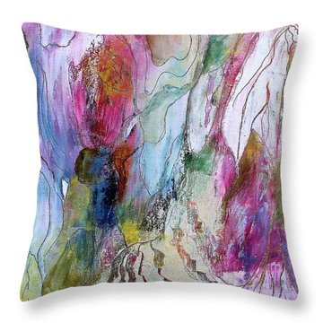 Under The Ice Of Venus Throw Pillow