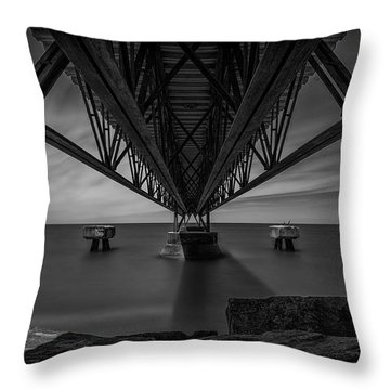 Under The Pier Throw Pillow by James Dean